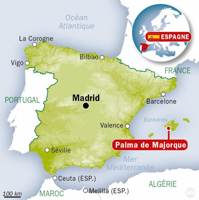 Majorque map