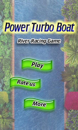 Power Turbo Boat River Racing