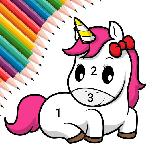 Unicorn Coloring For Kidscolor By Number Aplicații Pe