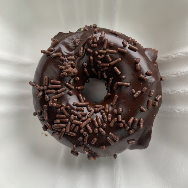 Most delicious GF chocolate donut ever!