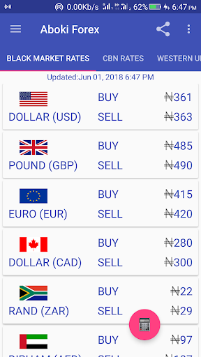 Aboki Forex - Currency Converter & Rate Calculator ss1