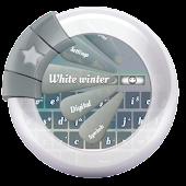 White winter GO Keyboard