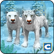 White Wild Tiger Family Survival 3D