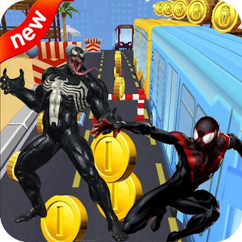 Subway Venom Run vs Spider Surf : Superhero Rush