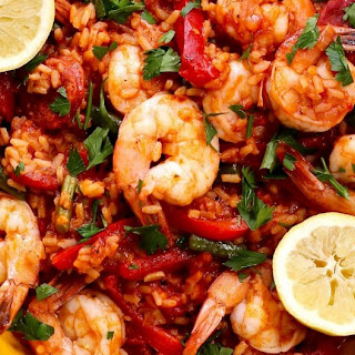 Prawn And Chorizo Paella.