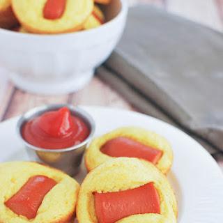 Cheesy Corn Dog Muffins.