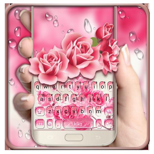 Pink Water Rose Keyboard Theme Icon
