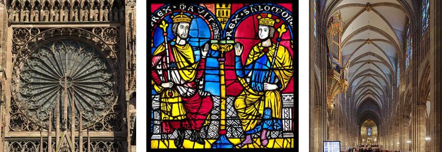 Vitral románico. Catedral de Estraburgo. Pixabay