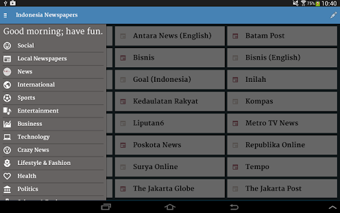 Indonesia Newspapers- screenshot thumbnail