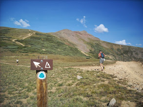 Photo: 17 miles and 4.5hrs in, we hit Carson Saddle.