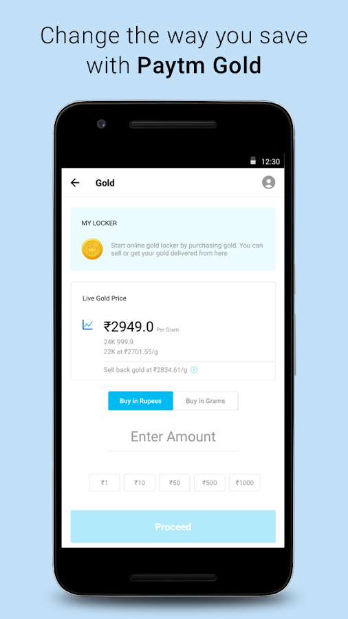 Recharge, Payments, QR Scanner, UPI, Bank Account- screenshot
