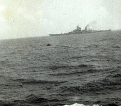 Photo: USS Wisconsin Scotland on Midshipman cruise USS Wisconsin 1953