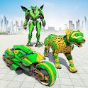 Wild Leo Robot Transform Wars: Robot Bike Games icon
