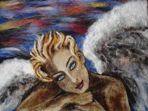 Photo: 212, Нетронина Наталья, Ангел Жизни, Шерстяные, акриловые, вискозные волокна(сухое валяние шерсти), 50х40см