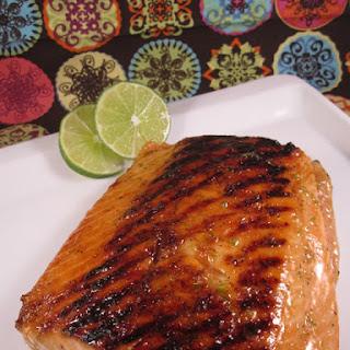 Honey Lime Glazed Salmon.