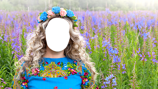 Lady Flower Hairstyles Photo Montage - náhled