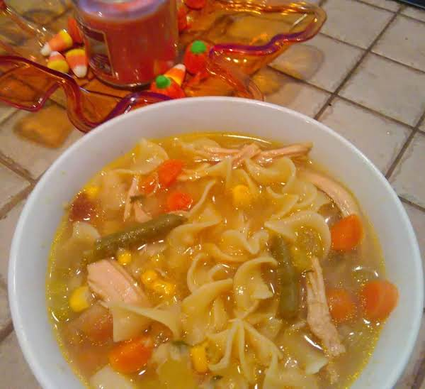 Next Day Turkey Noodle Soup