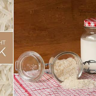 Roasted Overnight Rice Milk.