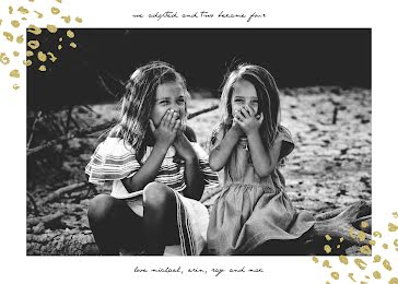 Twins Adoption Announcement - New Baby Announcement Template