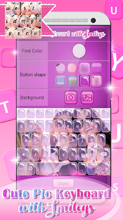 Cute Pic Keyboard with Smileys 3.0 screenshot 2090740