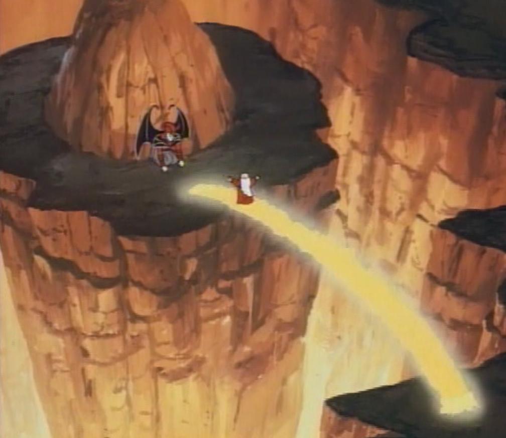 Dungeon Master makes a bridge to Venger