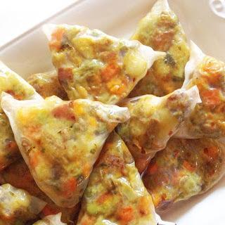 Green Curry Rice Paper Samosas [Vegan, Gluten-Free].