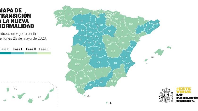 Mapa publicado por el Gobierno de España.