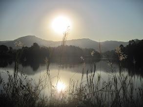 Photo: sunset at Mlilwane Wildlife Sanctuary, Swaziland
