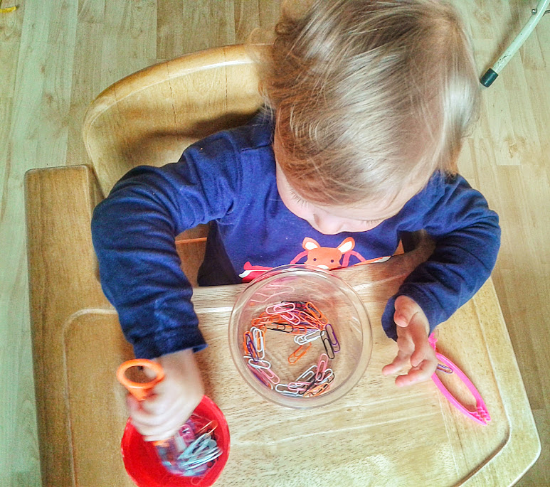 Welcome to Mommyhood: paper clip scooping