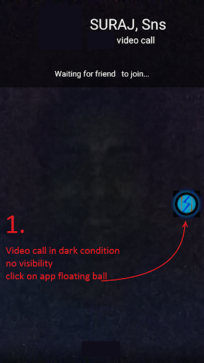 Flash For Video Call in Dark 9.0 screenshots 4