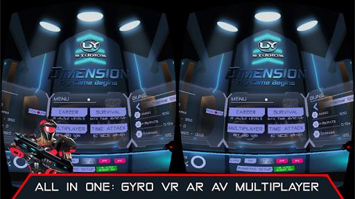 VR AR Dimension - Robot War Galaxy Shooter screenshots 1