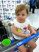Photo: My helper for the day! Eating a snack while we shop.