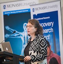 Photo: Prof Ingrid Scheffer AM from WEHI, describing her epilepsy research http://www.med.monash.edu.au/cecs/events/2015-tr-symposium.html