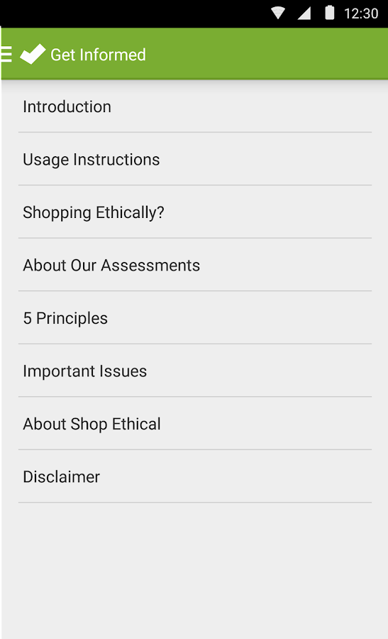 Shop Ethical!- screenshot