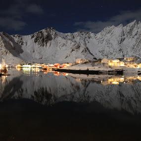 Vinter Landskap by Karl-roger Johnsen - Landscapes Mountains & Hills