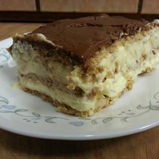 Chocolate Eclair Cake.