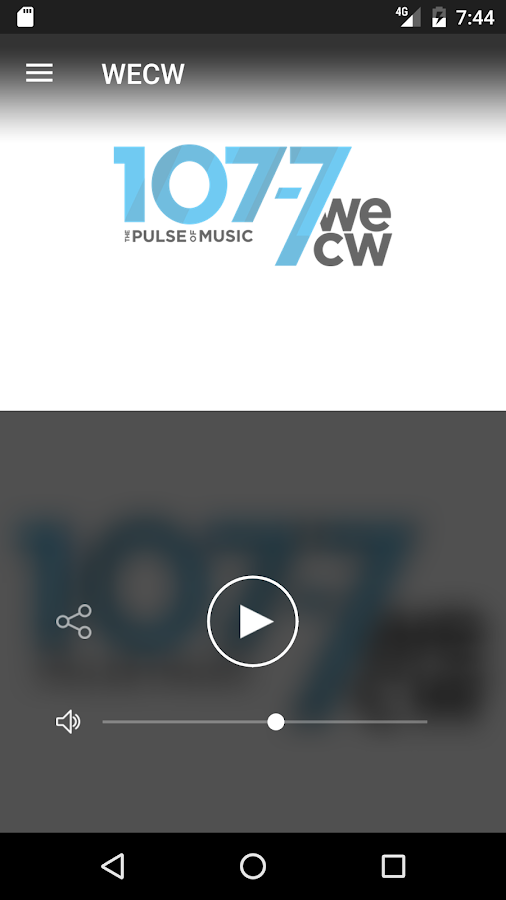 WECW 107.7- screenshot