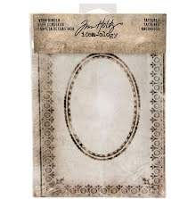 Tim Holtz Idea-0logy Worn 2-Ring Binder - Tattered Printed Fabric Cover