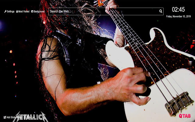 Metallica Wallpaper for New Tab