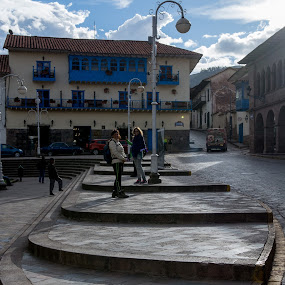 Stairs in Cusco by Hezi Shohat - City,  Street & Park  Street Scenes ( stairs, peru, cusco )