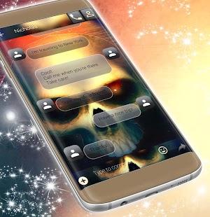 Zdarma 2017 Skull SMS téma - náhled