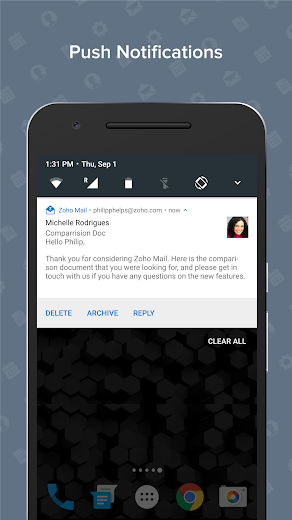 Screenshot 7 for Zoho Mail's Android app'