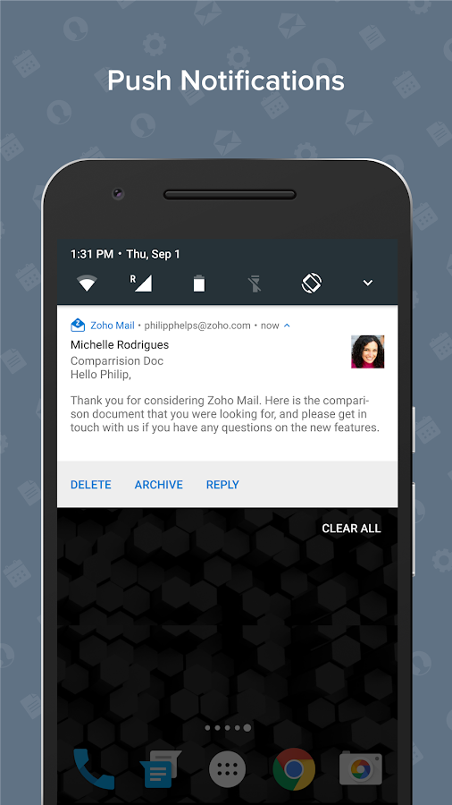 Zoho Mail- screenshot
