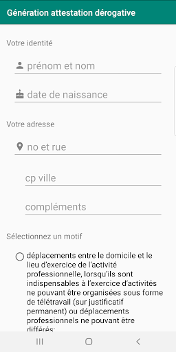 Impression attestation de d screenshot for Android