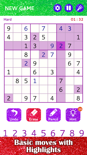 Sudoku Glitter Puzzle Art by number - Sudoku Board - screenshot