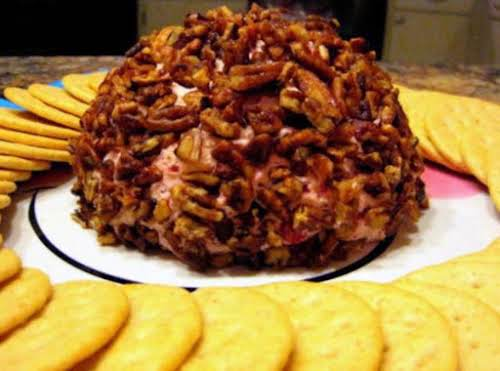 """Cranberry Orange Cheese Ball with Caramelized Pecans """"Everyone just loved it and..."""
