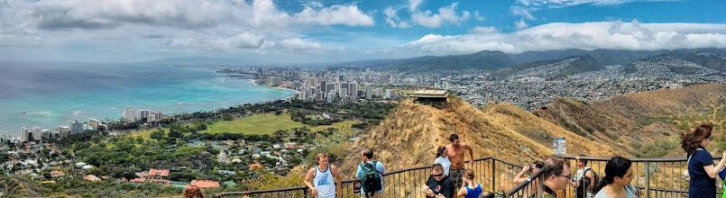 Photo: The view from the top of Diamond Head crater