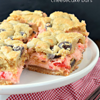 Cherry Chocolate Chip Cheesecake Bars