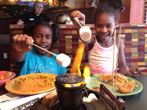 Photo: S'mores? At a restaurant? At the table? How ingenious! It just doesn't get better than that. And since there was enough for 4 kids, we shared with the woman (and her daughter) at the next table.