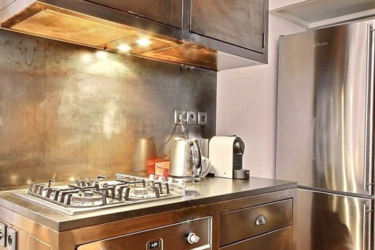 Luxury kitchen at Paris Grands Boulevards Serviced Apartment, Opera
